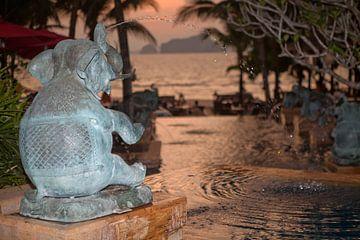 Tropische zonsondergang van t.ART
