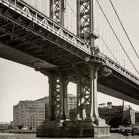 Manhatten Brigde, NYC van Jan de Vries