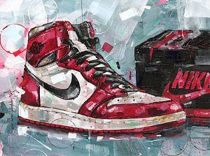 Nike air jordan 1 painting van Jos Hoppenbrouwers