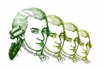 Wolfgang Amadeus Mozart, componist en muzikant van Gert Hilbink