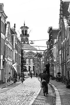 Zeichnung Dordrechter Rathaus Grotekerksbuurt von Hendrik-Jan Kornelis