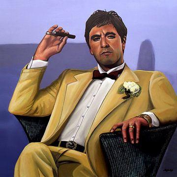 Al Pacino Acrylmalerei von Paul Meijering