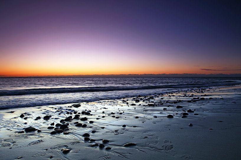 Zonsondergang aan de Noordzee van Frank Herrmann