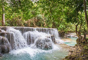 Waterval Kuang Si, Laos van Rietje Bulthuis