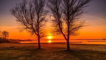 Gemälde Sonnenuntergang am See von Johan van der Linde