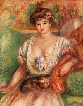 Portrait of Misia Sert (Jeune femme au griffon), Renoir (1907) sur Atelier Liesjes