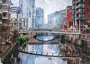 Manchester Aquarell Kunst #Manchester von JBJart Justyna Jaszke