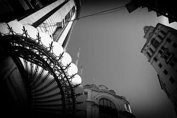 Art Deco stadsgezicht Buenos Aires van Ton Bijvank