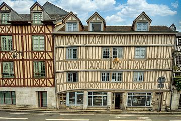 Fachwerkhäuser in Rouen von Peter Bartelings Photography