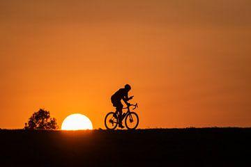 Radfahrer mit Telefon von Femke Straten
