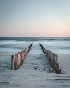 Kalme Zeeuwse zonsondergang van