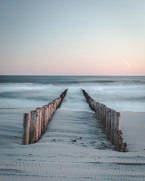 Kalme Zeeuwse zonsondergang van Peter Nolten