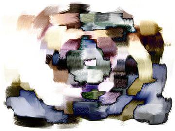 Abstrakt blau gelb rot von Maurice Dawson