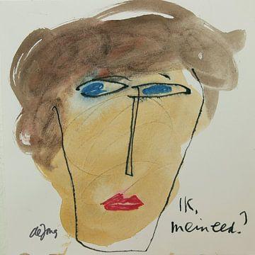 Martine, portret avatar von Leo de Jong