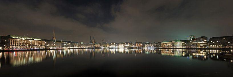 Alster Abend Panorama van Borg Enders