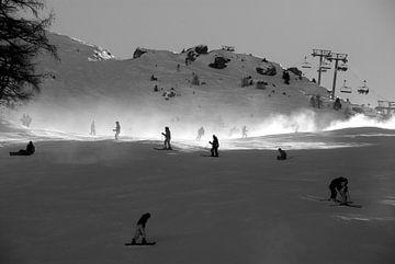 Wintersport sur R. de Jong