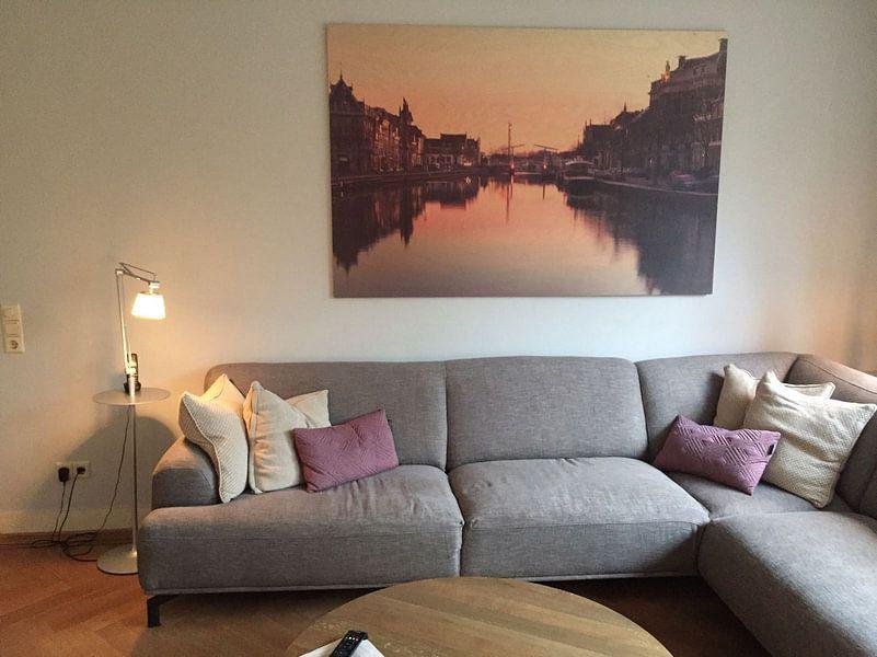 Photo de nos clients: Haarlem: winterse zonsopkomst. sur Olaf Kramer, sur bois