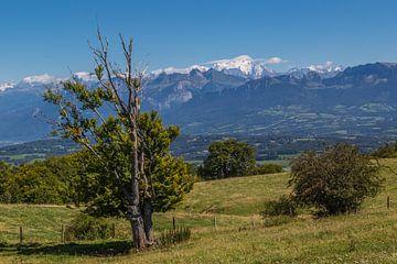 Le Mont Blanc surplombe la Haute-Savoie, France. sur Peter Leenen