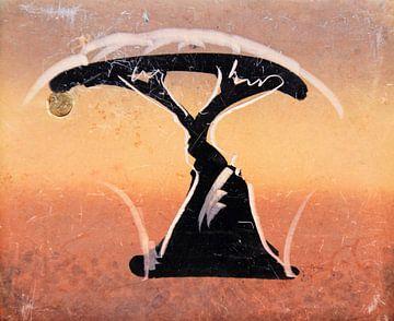 Akazienbaum gezeichnet auf Speckstein aus Afrika von Bobsphotography