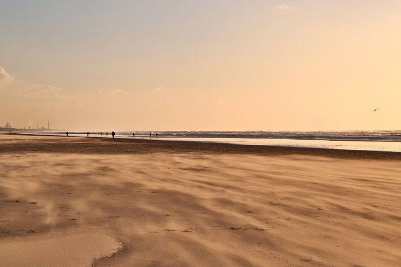 Zandstorm op het strand van Jaap Spaans