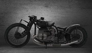 Moto concept noire sur H.m. Soetens