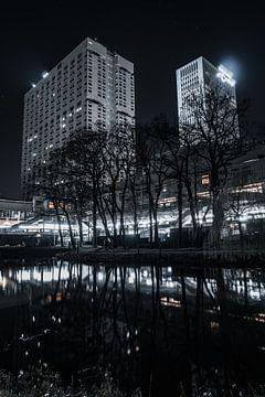 Erasmus Mc Rotterdam in die nacht von vedar cvetanovic