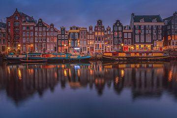 Grachtenpanden in Amsterdam sur Herman de Raaf