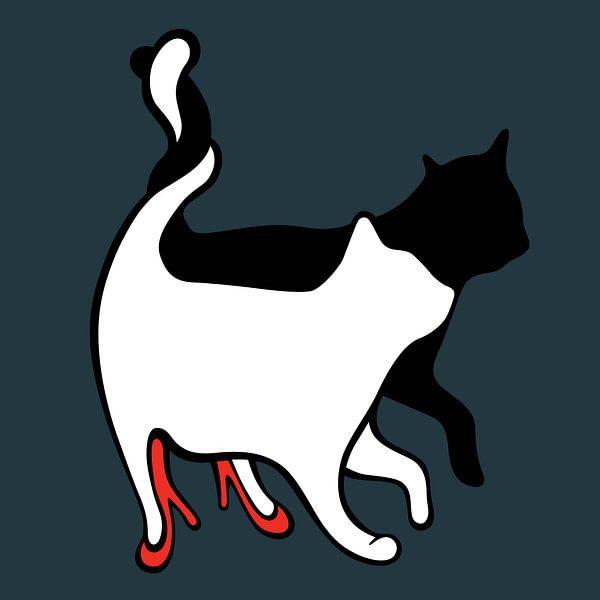 kat op hakken, cat on pumps, high heels, 2 cats, 2 katten, love, liefde