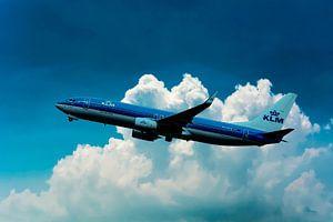 Een KLM Boeing 737-800, registratie PH-BCE, genoemd Blauwborst.