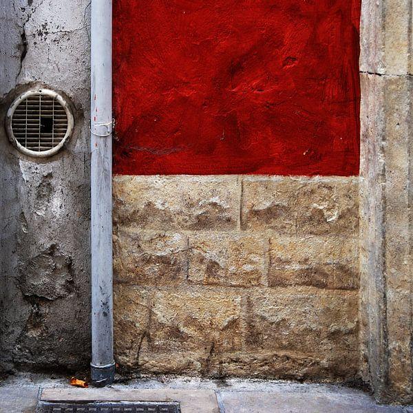 abstract van muur van Annemie Hiele