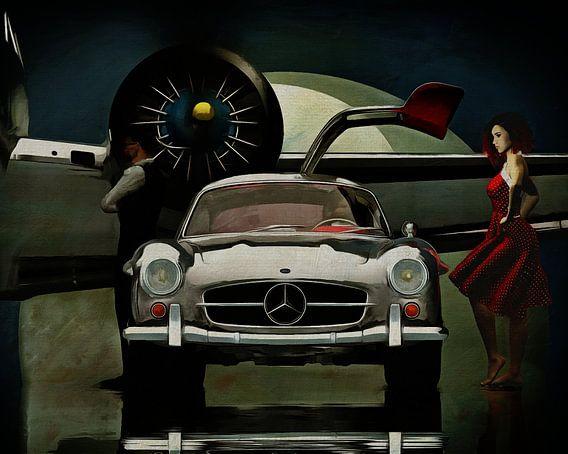 Mercedes 300SL gaat ergens heen....
