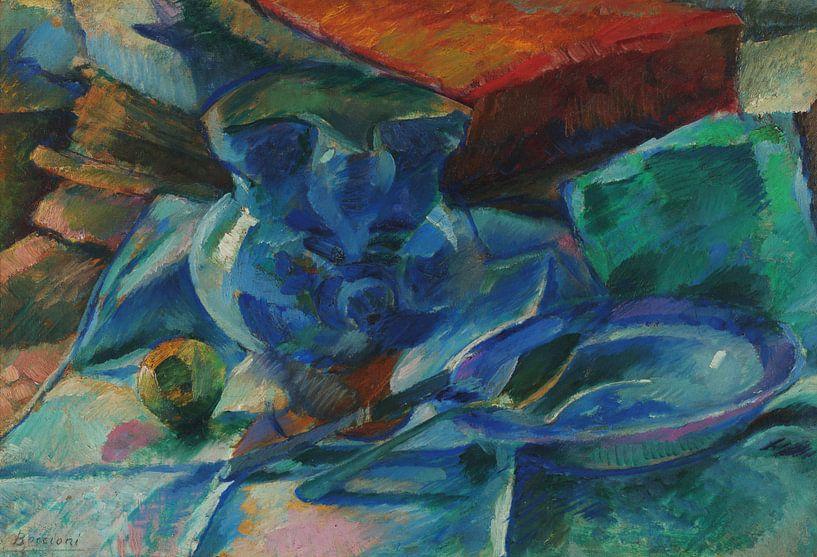 Umberto Boccioni-Tod Natur von gepflanztem Land und Obst von finemasterpiece
