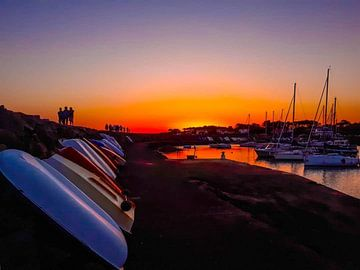 sunset yard su mer(france) van Wouter Van der Zwan