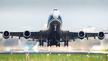 Boeing 747 met een late take-off