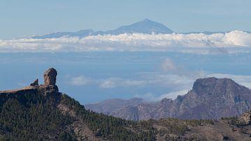 Uitzicht Tenerife vanaf Gran Canaria van de Roos Fotografie