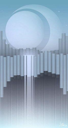 Skaftafell - Blauw Versie van Ilona Iske