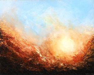 Sonnenaufgang hinter den Bergen von Christian Carrette