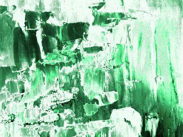 Abstract in groen en wit (V) van Maurice Dawson