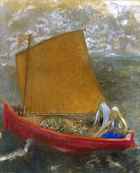 La Voile jaune (The Yellow Sail), Odilon Redon von Meesterlijcke Meesters