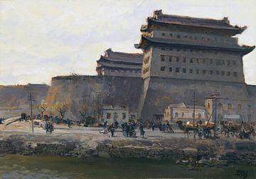 De Deshengmen-stadspoort in Beijing, ERICH KIPS, Ca. 1928 van Atelier Liesjes