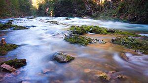 Flowing downstream