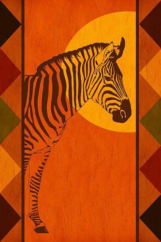 Farben Afrikas mit Zebra von