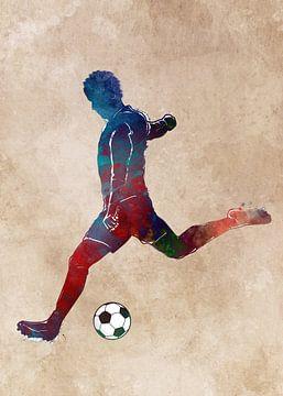 Fußballspieler Sport Kunst #Fußball #Fußball von JBJart Justyna Jaszke
