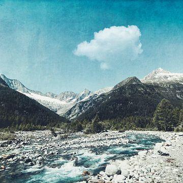 Bergstroom Lombardije Italië van Dirk Wüstenhagen