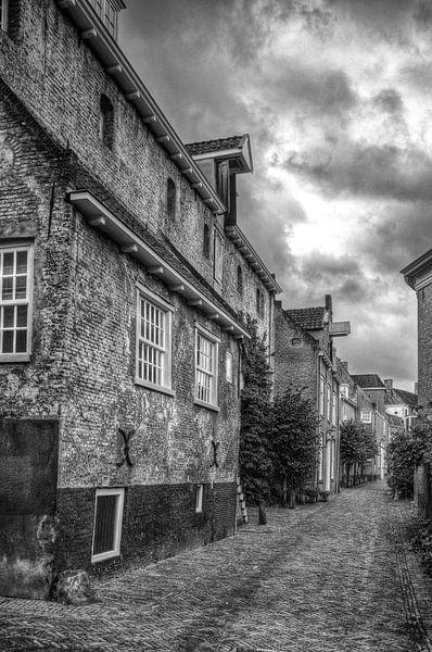 Muurhuizen historisch Amersfoort zwartwit van Watze D. de Haan