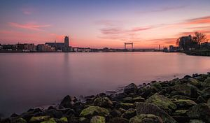 Dordrecht Skyline bij zonsondergang vanuit Zwijndrecht - 2