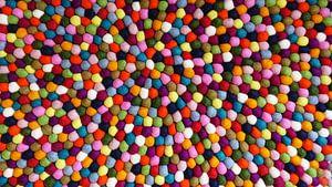 Multicolored Felt Balls