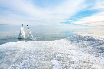 Winter auf dem IJsselmeer 2021 von Etienne Hessels