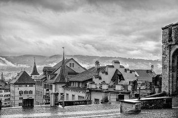 Regen in Rapperswil(Zwitserland) van Don Fonzarelli