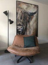 Kundenfoto: Schottisches Hochlandrind mit Acrylfarbe von Els Fonteine, auf leinwand